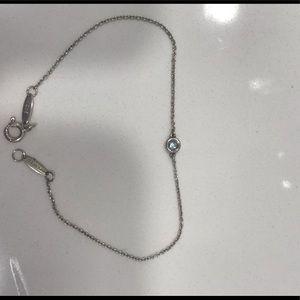 Tiffany & Co Sterling Silver & Aquamarine Bracelet